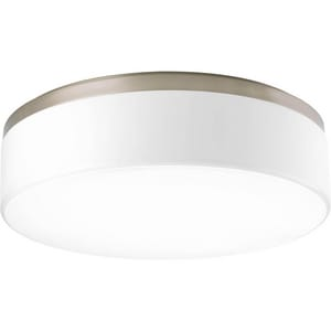 Progress Lighting Maier 17W 3-Light LED Flushmount Ceiling Fixture in Brushed Nickel PP36750930K9
