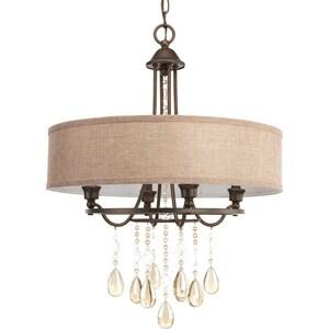 Progress Lighting Flourish 60W 4-Light Pendant in Cognac PP515172