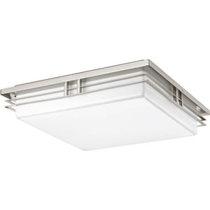 Progress Lighting 17W 3-Light LED Flushmount Ceiling Fixture in Brushed Nickel PP34490930K9
