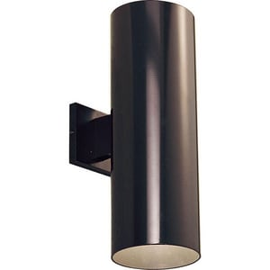 Progress Lighting Cylinder 2-Light 29W Outdoor LED Wall Sconce in Antique Bronze PP56422030K