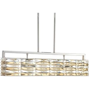Progress Lighting The Pointe 60W 4-Light Pendant in Polished Nickel PP512315