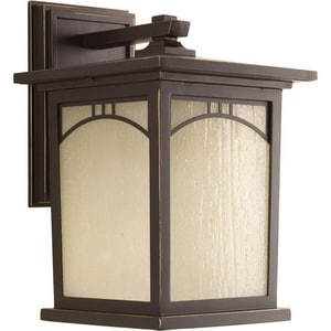Residence 12-3/16 in. 100W 1-Light Outdoor Wall Lantern in Antique Bronze PP605320