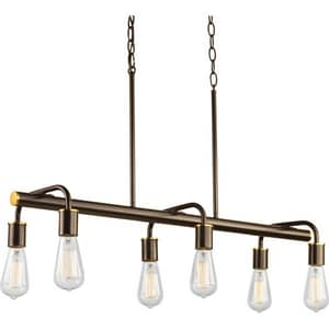 Progress Lighting Swing 34-1/2 in. 60W 6-Light Medium Incandescent Chandelier PP4742