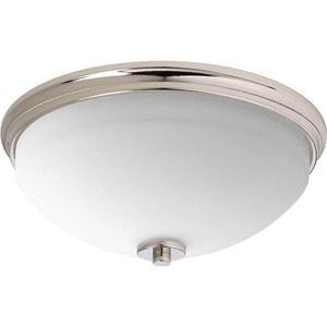 Progress Lighting Replay 60W 2-Light Medium E-26 Base Incandescent Flushmount Ceiling Fixture PP3423
