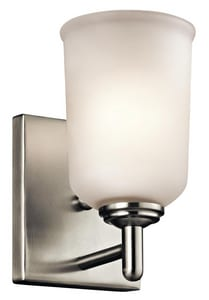 Kichler Lighting Shailene 100W 1-Light Medium E-26 Base Incandescent Wall Sconce KK45572