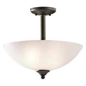 Kichler Lighting Jolie 15 in. 100W 2-Light Medium Incandescent Ceiling Light KK43641