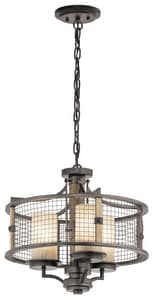 Kichler Lighting Ahrendale 100W 3-Light Medium Incandescent Chandelier KK43581