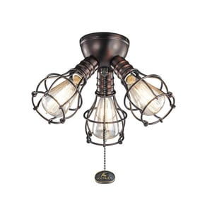 Kichler Lighting 40W 3-Light Candelabra E-12 Fan Light Kit in Oil Brushed Bronze KK370041OBB