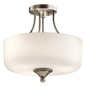 Kichler Lighting 100W 3-Light Medium E-26 Base Incandescent Semi-Flushmount Ceiling Fixture KK43655