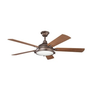 Kichler Lighting Hatteras Bay Patio Collection 60 in. 5-Blade Ceiling Fan KK310117