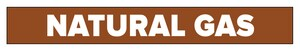 Accuform Signs Natural Gas Pipe Marker in Brown ARPK525SS