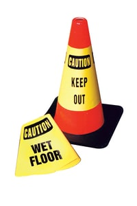 Accuform Signs Cone Cuff™ 28 in. Safety Cone Caution - Slippery when Wet AFBC920E at Pollardwater