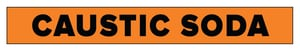 Accuform Signs Caustic Soda Pipe Marker in Orange ARPK187SS