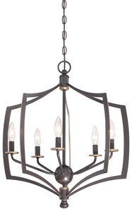 Minka-Lavery Middletown 5-Light Chandelier in Downtown Bronze M4375579