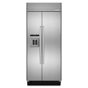Kitchenaid 7.20 cf Width Built-In Side-by Side Refrigerator KKBSD606E