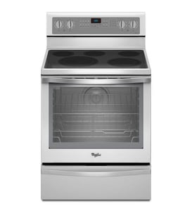Whirlpool 29-7/8 in. Freestanding Electric Range with Warming Drawer WWFE715H0E