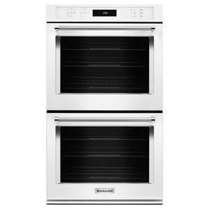 Kitchenaid Even-Heat™ 27 in. Double Electric Wall Oven Self Cleaning with Convection KKODE507E
