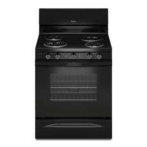 Whirlpool 47-7/8 x 29-7/8 in. 4.8 cf Electric Freestanding Range with Self-Cleaning System WWFC340S0E