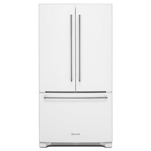 Kitchenaid 35-7/8 in. 17.75 cf Standard Depth French Door Refrigerator with Interior Dispense KKRFF305E