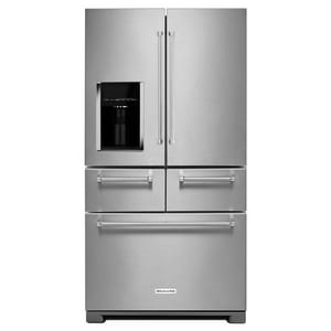 Kitchenaid 18.15 cf Multi-Door Freestanding Refrigerator with Platinum Interior Design KKRMF706E