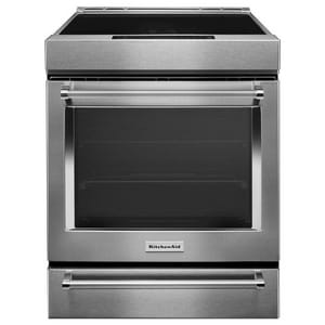 Kitchenaid 4-Element Induction Slide-In Convection Range with Baking Drawer KKSIB900E
