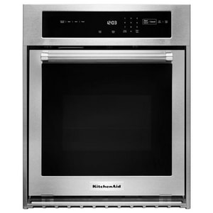 Kitchenaid 23-3/4 in. 3.1 cf Built-In Electric Single Oven with True Convection KKOSC504E