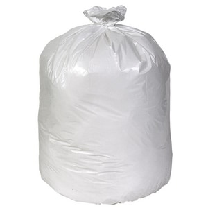 Pitt Plastics 42 x 26 in. 30 gal 0.9 mil Flat Can Liner in White 200-Pack P112017