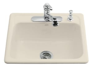 Kohler Mayfield™ 25 x 22 in. Top Mount Single Bowl Kitchen Sink with ...