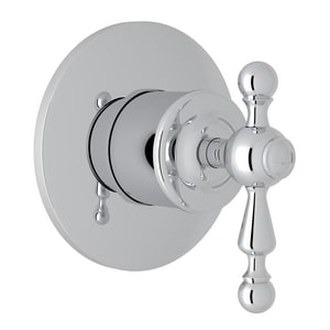 Rohl Arcana Tub and Shower Diverter Valve with Single Lever Handle RAC27NLATO