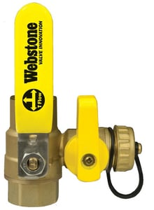 Webstone Company Pro-Pal Series® Sweat x IPS Brass Full Port Ball Valve with Reversible Handle W5461W