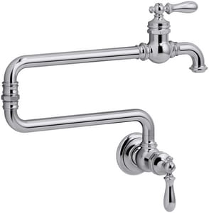 Kohler Artifacts® 1-Hole Wall Mount Pot Filler Kitchen Sink Faucet with Double Lever Handle K99270