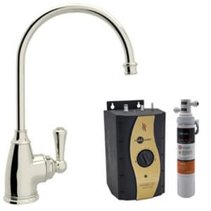 Rohl Perrin & Rowe® 1-Hole Single Lever Handle Hot Water Faucet, Tank and Filter Kit RUKIT1325L2