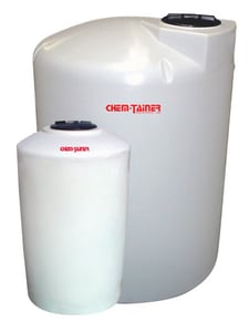 Chem-Tainer Industries 31 x 72 in. 200 gal Polyethylene Vertical Bulk Storage Tank CTC3172IA at Pollardwater