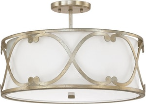 Capital Lighting Fixture Alexander 3-Light Medium E-26 Base Semi-Flushmount Fixture C4743610