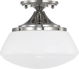 Capital Lighting Fixture 75W 1-Light Medium E-26 Base Semi-Flushmount Ceiling Fixture C3537129