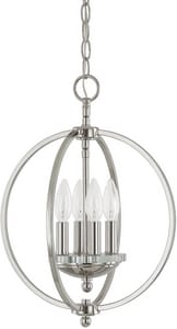 Capital Lighting Fixture Perry 18 in. 4-Light Candelabra E-12 Base Incandescent Pendant C4864