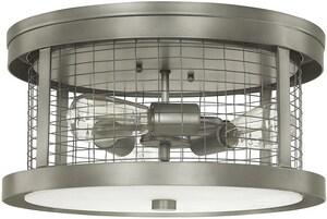 Capital Lighting Fixture Davis 3-Light 100W Ceiling Fixture in Graphite C4859GR