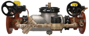 Wilkins Regulator Flanged x Grooved Stainless Steel Backflow Motor with Wheel Handle W350ASTDACFMBG