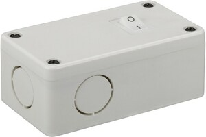 Nuvo Lighting Thread Junction Box with Switch in White N63308