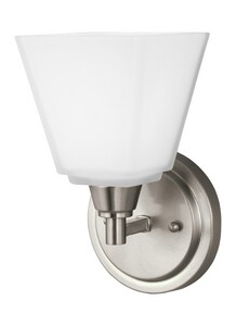 Seagull Lighting Parkfield 75W 1-Light Medium E-26 Base Incandescent Wall or Bath Sconce S4113001