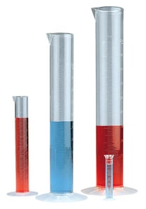 Bel-Art Products 25ml Polymethylpentene Graduated Cylinder in Clear BF286910000 at Pollardwater