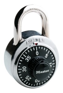 Master Lock 1-7/8 x 1-1/2 in. High Security Combination Different Padlock in Silver and Black M1500LF at Pollardwater