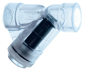 Hayward Industrial Products YS Series Socket Wye Strainer in Clear HYS00S