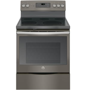 General Electric Appliances 29-7/8 in. 12.5kW 5-Burner Freestanding Electric Convection Range GJB700