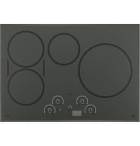 General Electric Appliances Cafe™ Series 29-3/4 in. 4-Burner Stainless Steel Built-In Touch Control Induction Cooktop GCHP9530SJSS