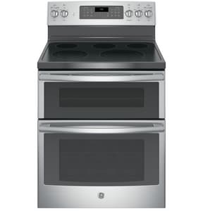 General Electric Appliances 3600W Double Oven Freestanding Electric Convection Range in Stainless Steel GJB860SJSS
