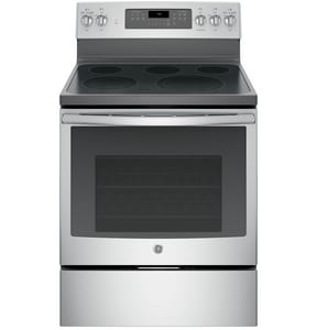 General Electric Appliances 3800W 5-Burner Freestanding Electric Convection Range in Stainless Steel GJB750SJSS