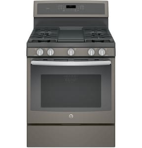 General Electric Appliances 30 in. 18000 BTU 5-Burner Freestanding Gas Convection Range GPGB911