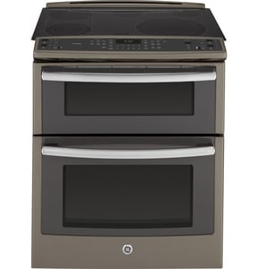 General Electric Appliances Profile™ 37-1/4 x 31-1/4 in. 6.6 cf Freestanding Electric Double Oven GPS950EF