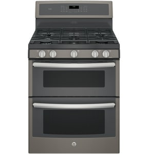 General Electric Appliances 30 in. 18000 BTU 5-Burner Freestanding Gas Double Oven Convection Range GPGB960